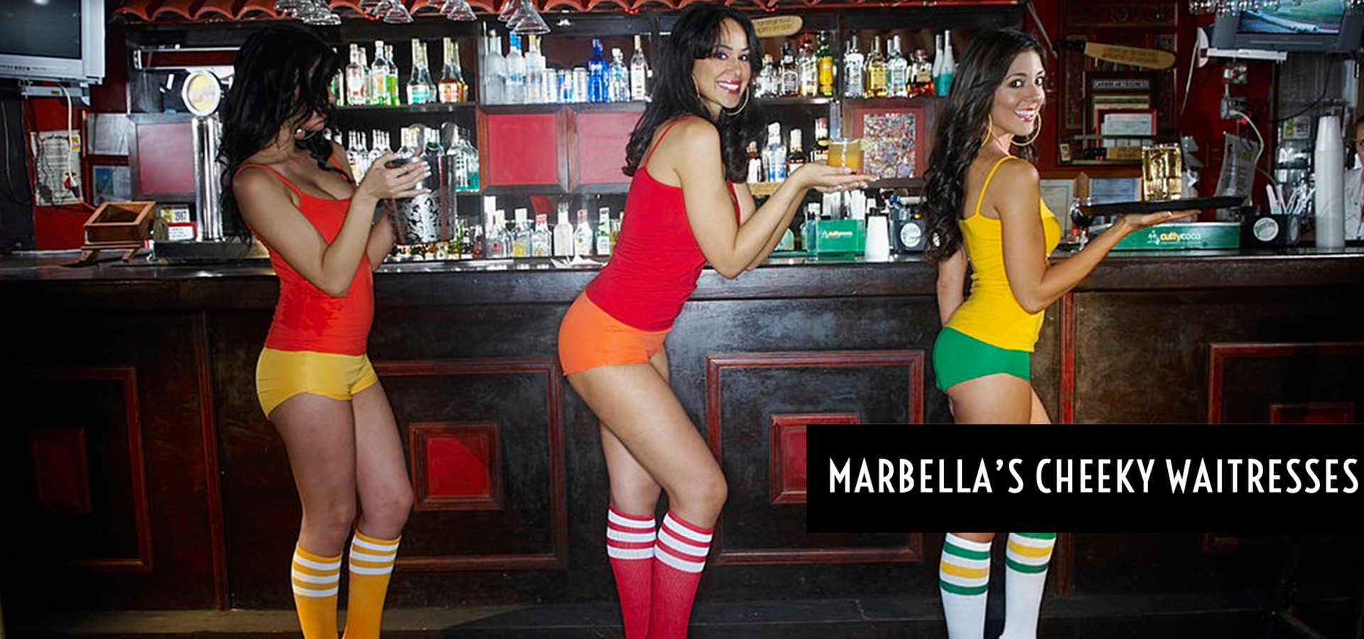 Cheeky Waitresses for hire Marbella - Cheeky Waitresses for hire Costa del Sol - Marbellas Cheeky Waitresses
